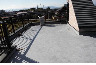 陸屋根の屋上