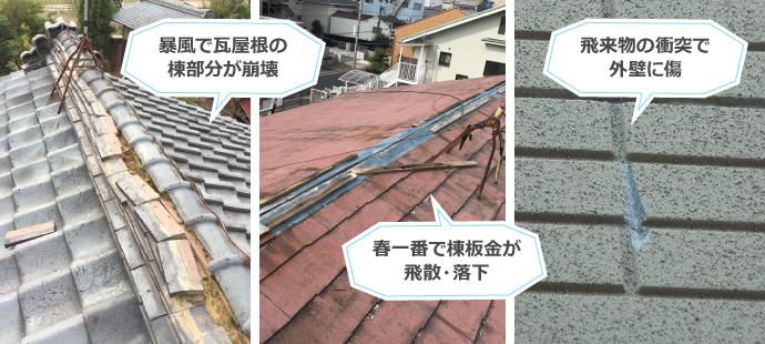 火災保険を適用できる雨漏りのケース