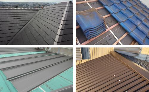 屋根材とは屋根表面に敷設された瓦やスレートなどを指す