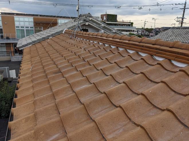 屋根漆喰完成