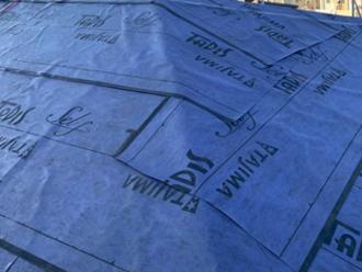 防水紙設置