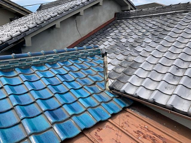 天理市で築60年増築ありのお宅で雨漏り無料調査、天井裏で多数雨漏り跡を確認