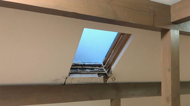 雨漏りの酷い天窓