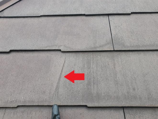 千葉市稲毛区黒砂台にてスレート屋根材の劣化に伴う屋根カバー工法をご提案