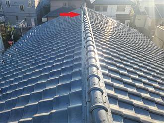 船橋市八木が谷にて瓦屋根からの雨漏り調査、防水紙の破れから葺き直し工事を提案