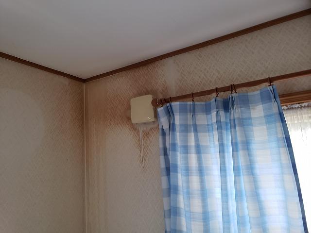 和光市にて換気扇周りに染みができ、雨漏りしてしまったお家に現地調査にお伺いしました。