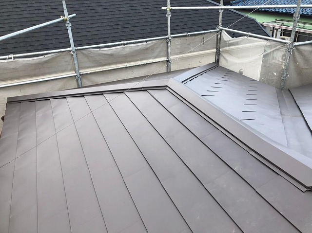 工事完了後の屋根