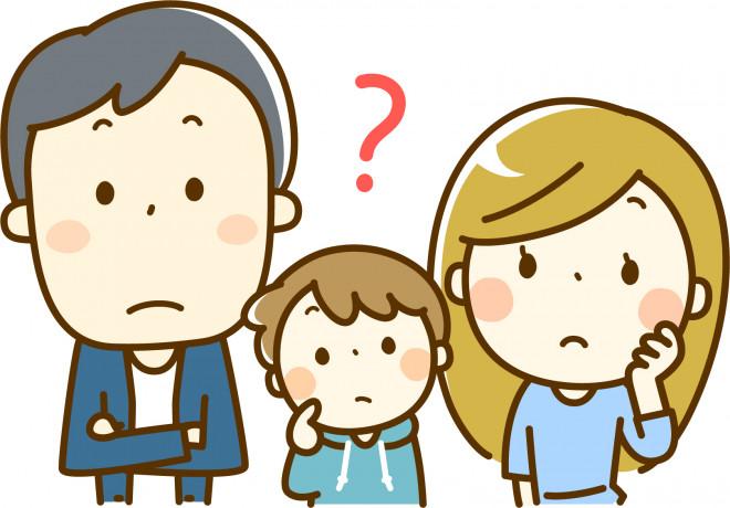 疑問を感じる家族