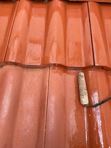 沼津市雨漏り玄関屋根塗装