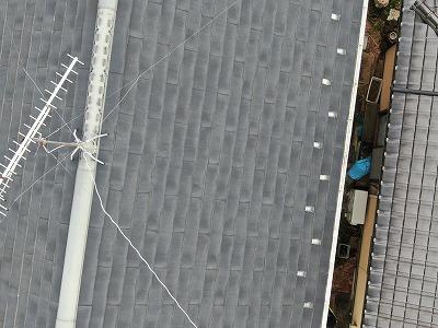 屋根全体の写真です。一見問題ない様に見えます。