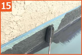 防水層を保護するトップコートを塗布