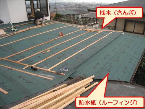 三島市雨漏り屋根カバールーフィング