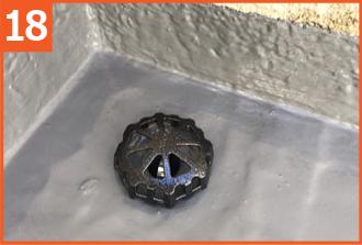 排水口のごみ除けの設置