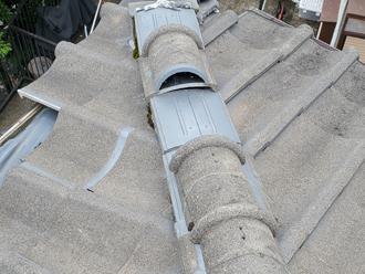 千葉市中央区矢作町にて瓦屋根落下で雨漏り発生のご相談、瓦屋根も定期的にメンテナンスを行いましょう