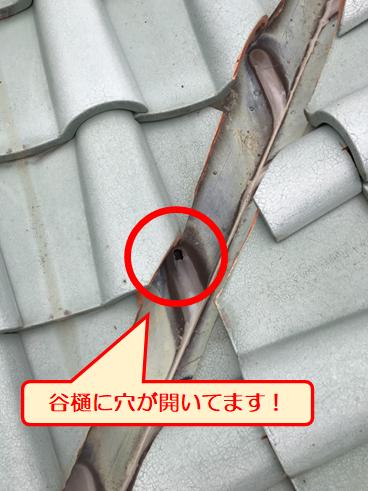 三島天井剥がれ谷樋穴