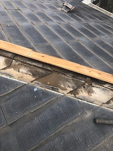 貫板を外した状態の屋根