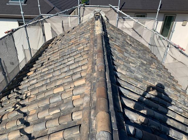 八尾市の蔵の屋根 施工前