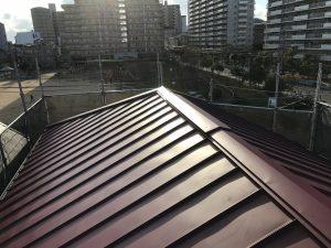スレート屋根から金属屋根へのカバー工法アフター