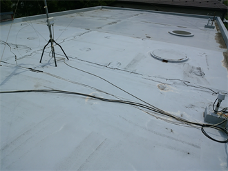 陸屋根の防水点検