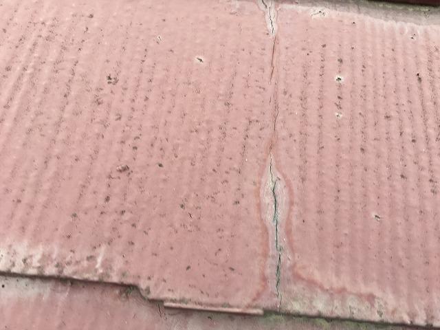 屋根材のヒビ