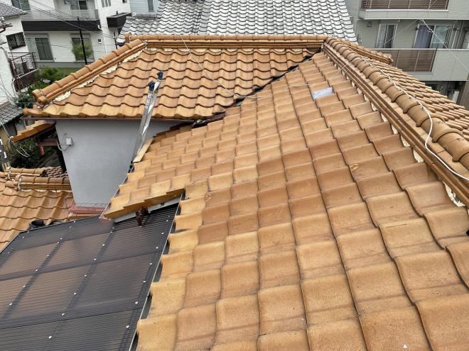 屋根工事前全景写真