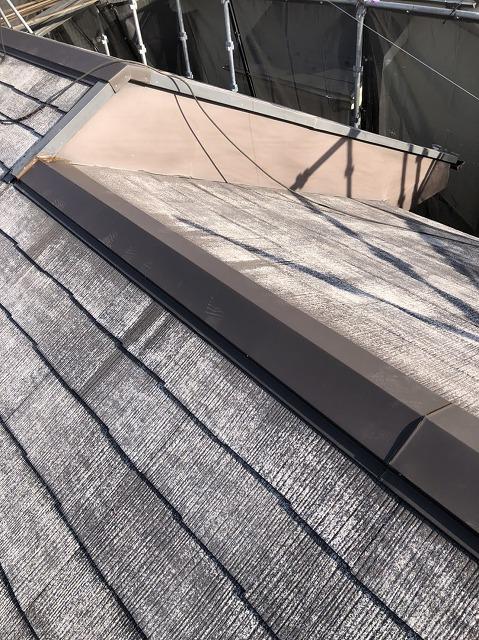 板金設置後の屋根