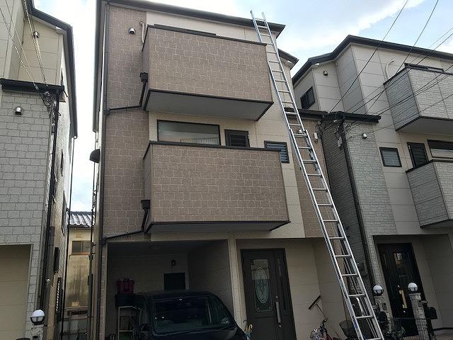 八尾市にて、台風被害で雨漏り検査を含めた屋根調査を行いました