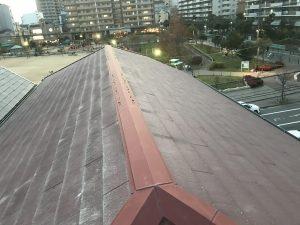 スレート屋根から金属屋根へのカバー工法ビフォア