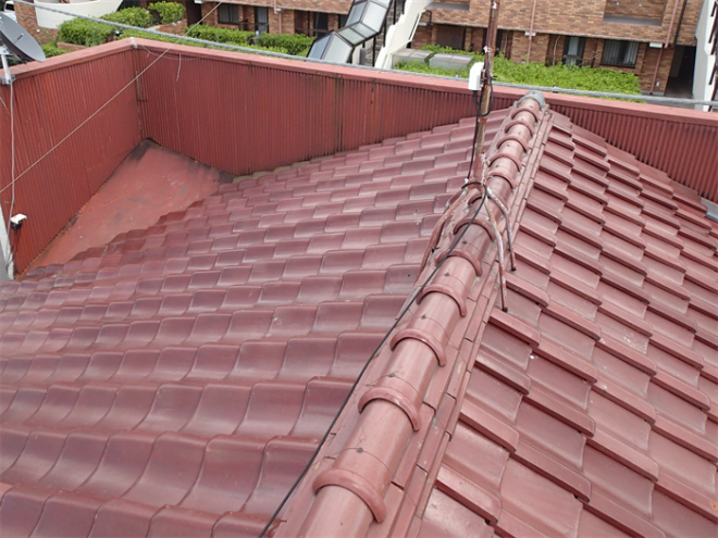 八千代市勝田台にて数年前より雨漏りが発生してしまっているアパートの調査を実施