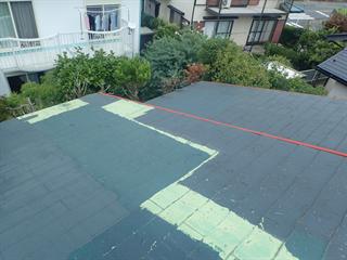 お客様が塗装した屋根