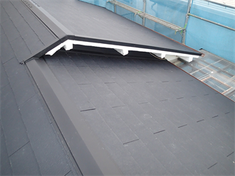 浦安市富士見にて築30年の瓦屋根をスレート屋根材で葺き替え雨漏り対策