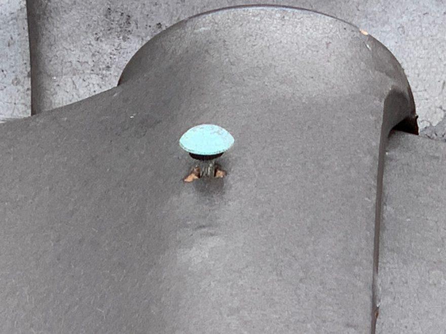 銅釘の浮き