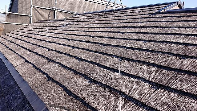 スペーサー設置後の屋根