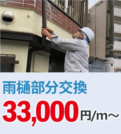 雨樋交換30000円/m~