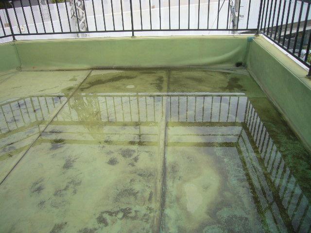茨木市で雨漏りの連絡を頂き防水工事を行いました