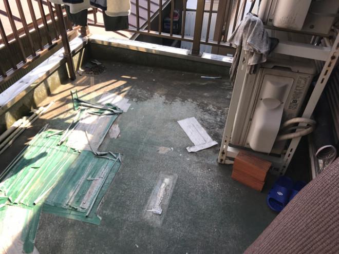 千葉市花見川区柏井町のベランダ雨漏り調査からFRP防水工事をご提案