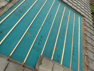 木更津市朝日にて強風で瓦がズレ雨漏りが発生、部分的な葺き直し工事を行いました
