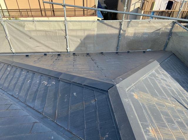工事前スレート屋根