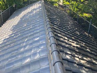 千葉市緑区高田町にて雨漏りが発生する前に棟取り直し工事で瓦屋根を復旧