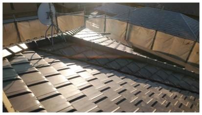 屋根葺き替え工事が完了しました。