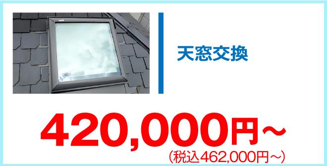 天窓交換440,000円~