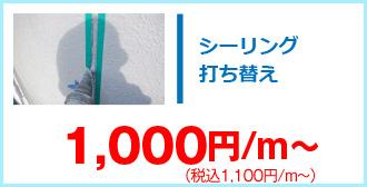 シーリング打ち替え1,100円/m~