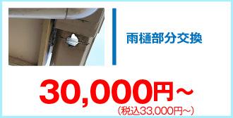 雨樋部分交換33,000円~
