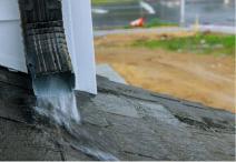 ゲリラ豪雨時の雨樋