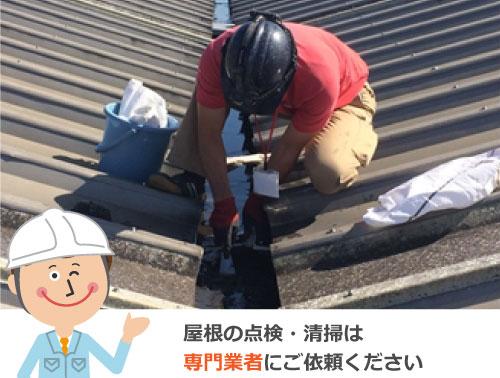 屋根の点検・清掃は専門業者にご依頼ください