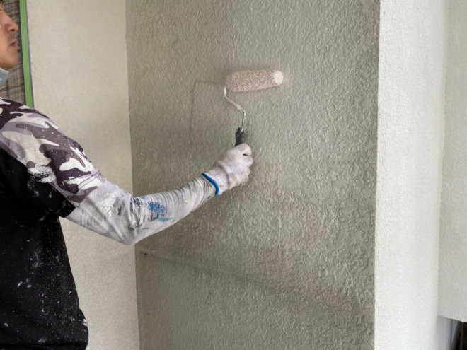 春日井市、外壁塗装、下塗り