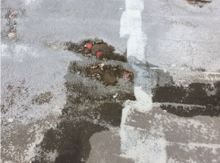 防水層の破れ